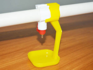 baby chick drinking water cup can avoid water waste.