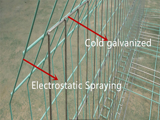 Our cage mesh are adopted the electrostatic spraying process.